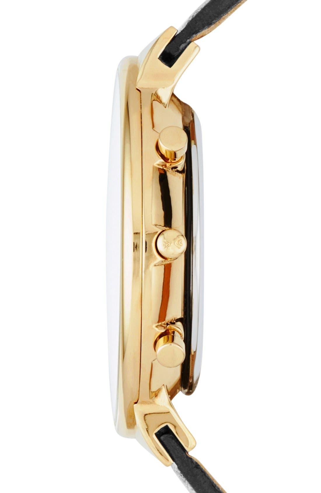 Alternate Image 3  - Skagen 'Ancher' Chronograph Leather Strap Watch, 40mm