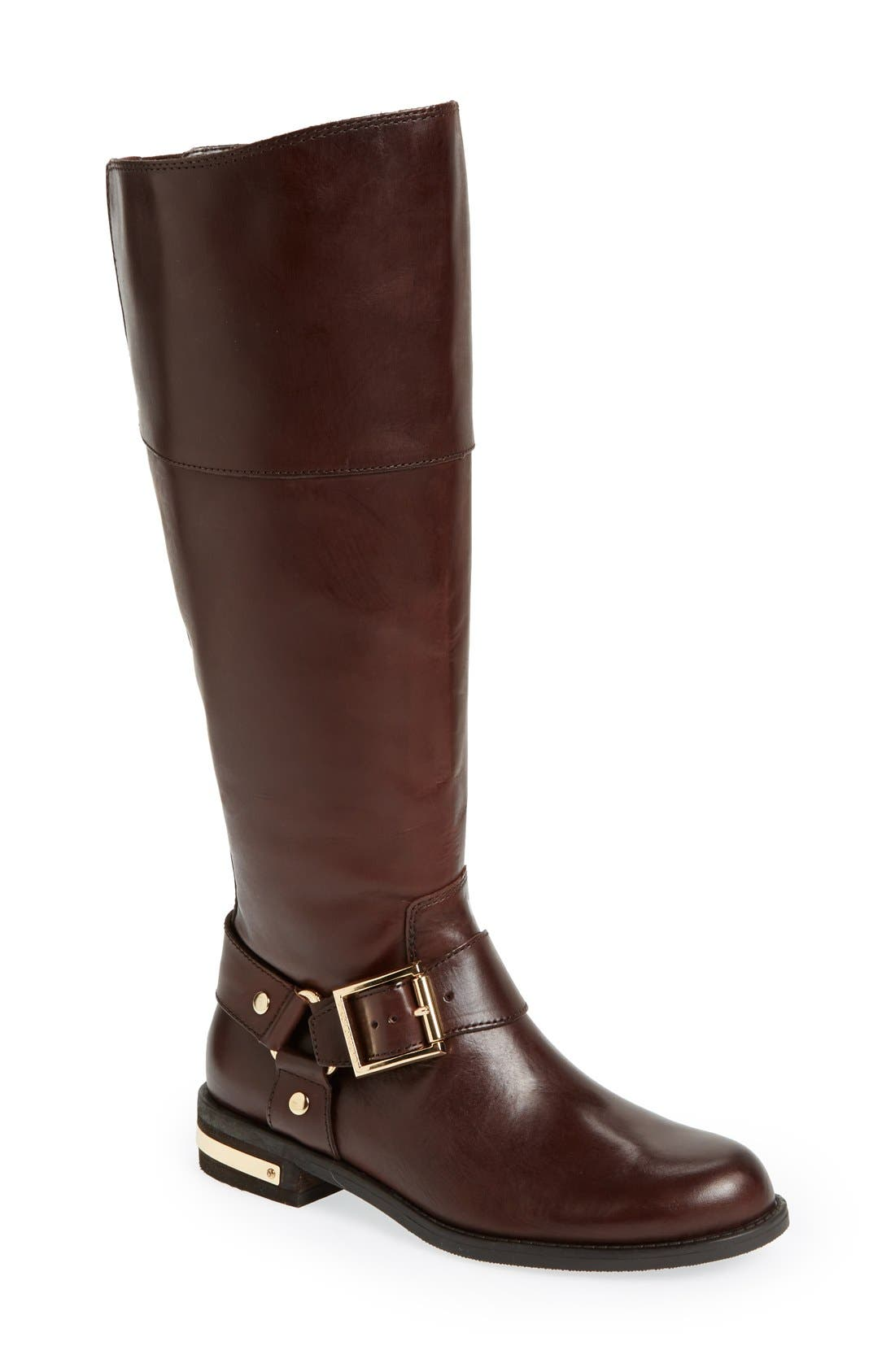 Alternate Image 1 Selected - Vince Camuto 'Kallie' Leather Riding Boot (Women)(Wide Calf)