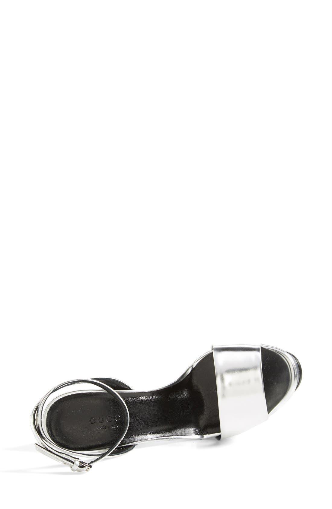 Alternate Image 3  - Gucci 'Leila' Metallic Platform Sandal (Women)
