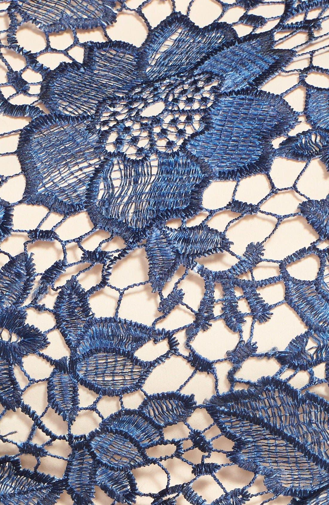 Alternate Image 4  - Eva Franco 'Futura' Ombré Lace Fit & Flare Dress