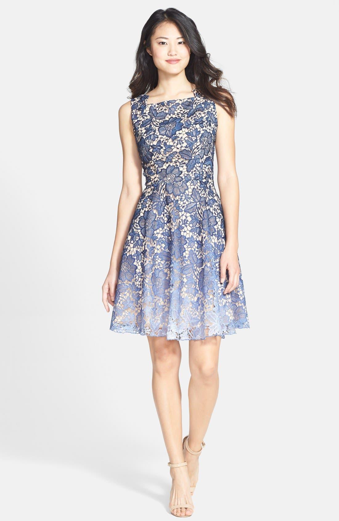 Alternate Image 3  - Eva Franco 'Futura' Ombré Lace Fit & Flare Dress