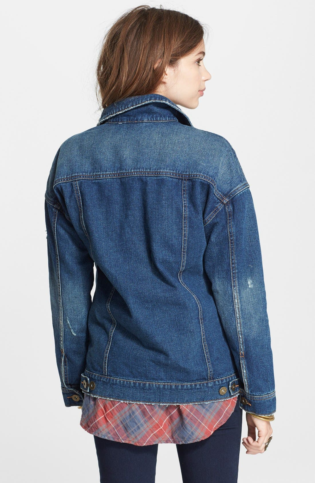 Alternate Image 2  - Free People Long Denim Jacket