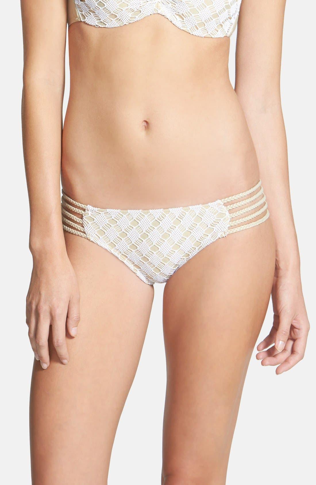 Alternate Image 1 Selected - Luli Fama Multi Braid Crochet Bikini Bottoms