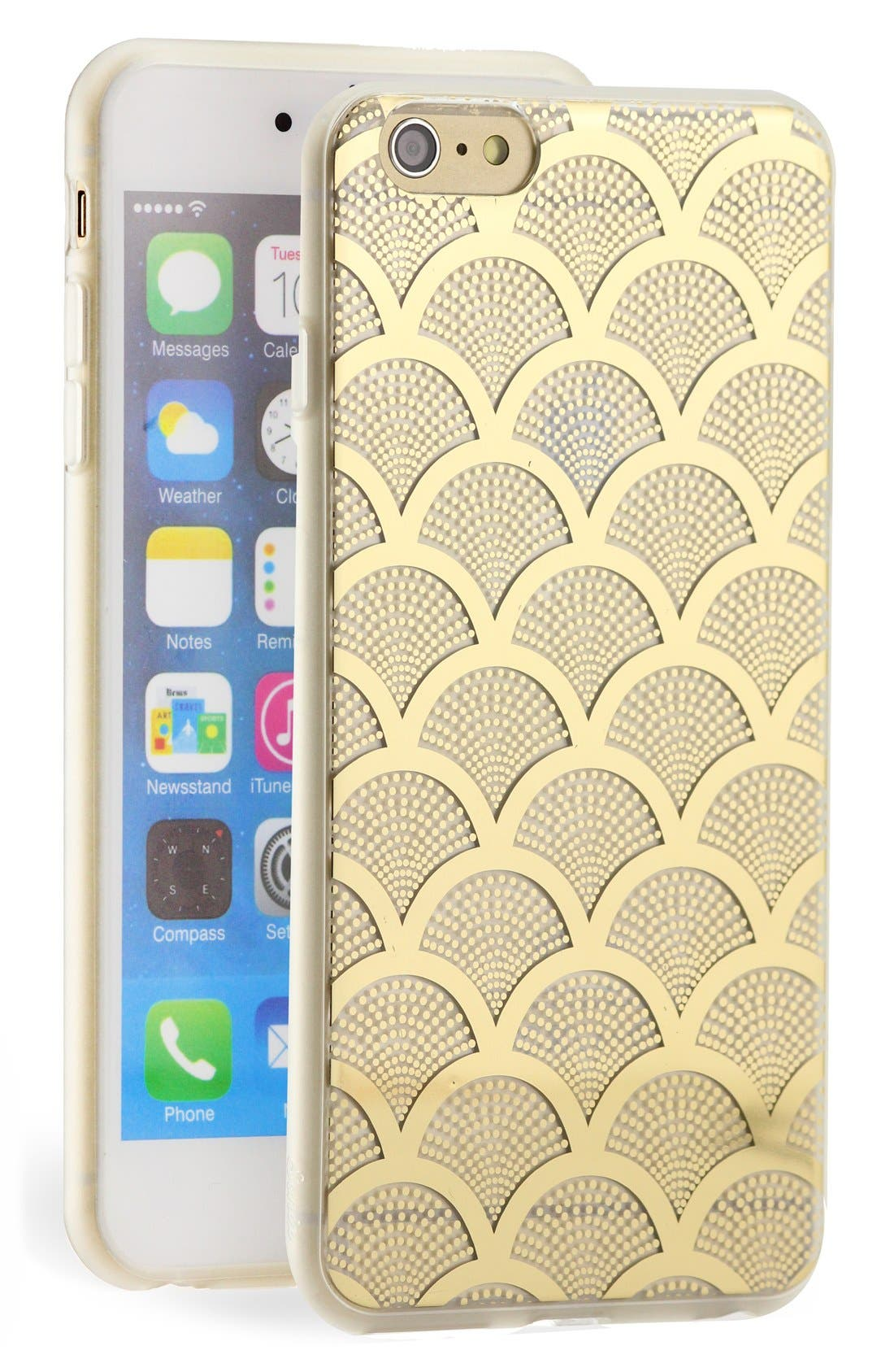 Alternate Image 1 Selected - Sonix 'Gold Lace' Clear iPhone 6 Plus Case