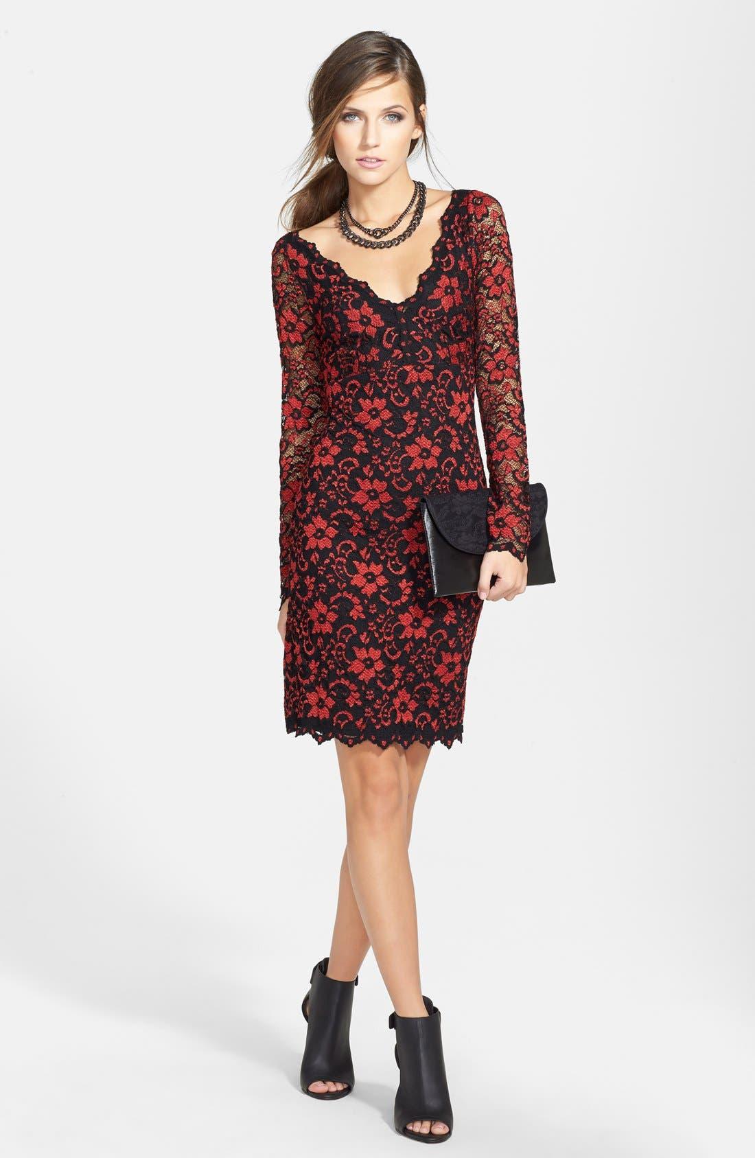 Alternate Image 5  - Karen Kane Scallop Lace Dress