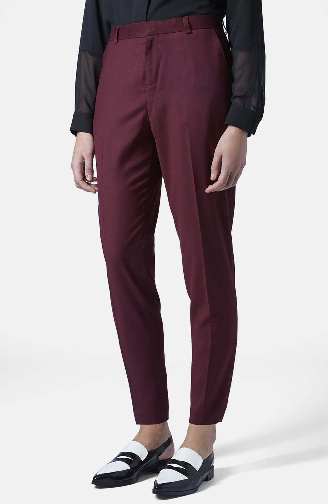 Main Image - Topshop Premium Suit Trousers