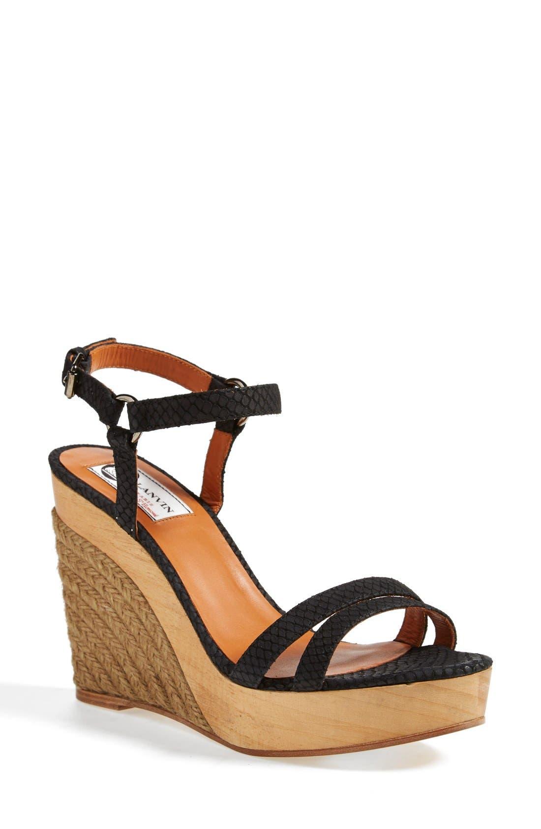 Alternate Image 1 Selected - Lanvin Espadrille Wedge Sandal (Women)