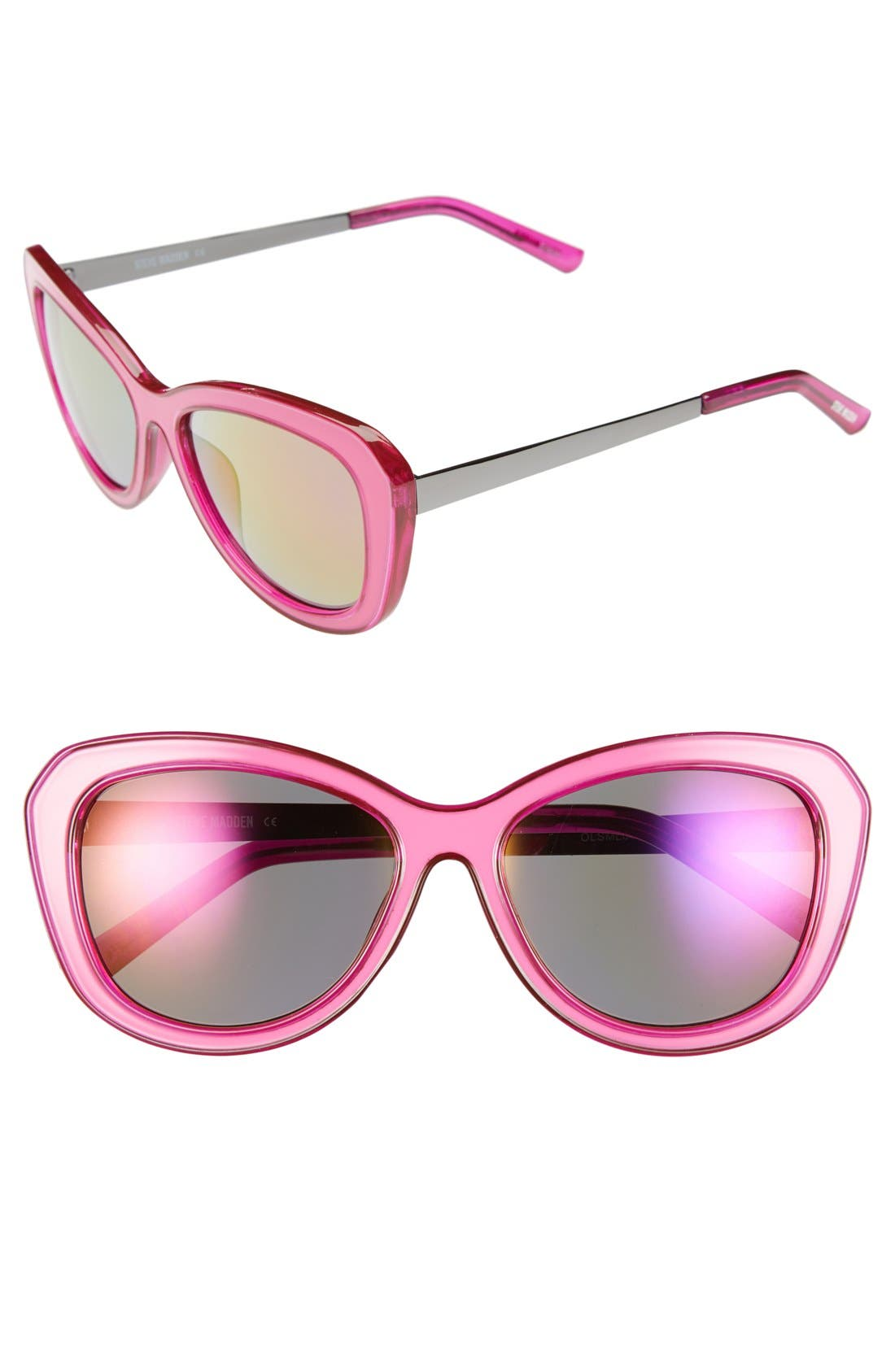Main Image - Steve Madden 53mm Polarized Cat Eye Sunglasses