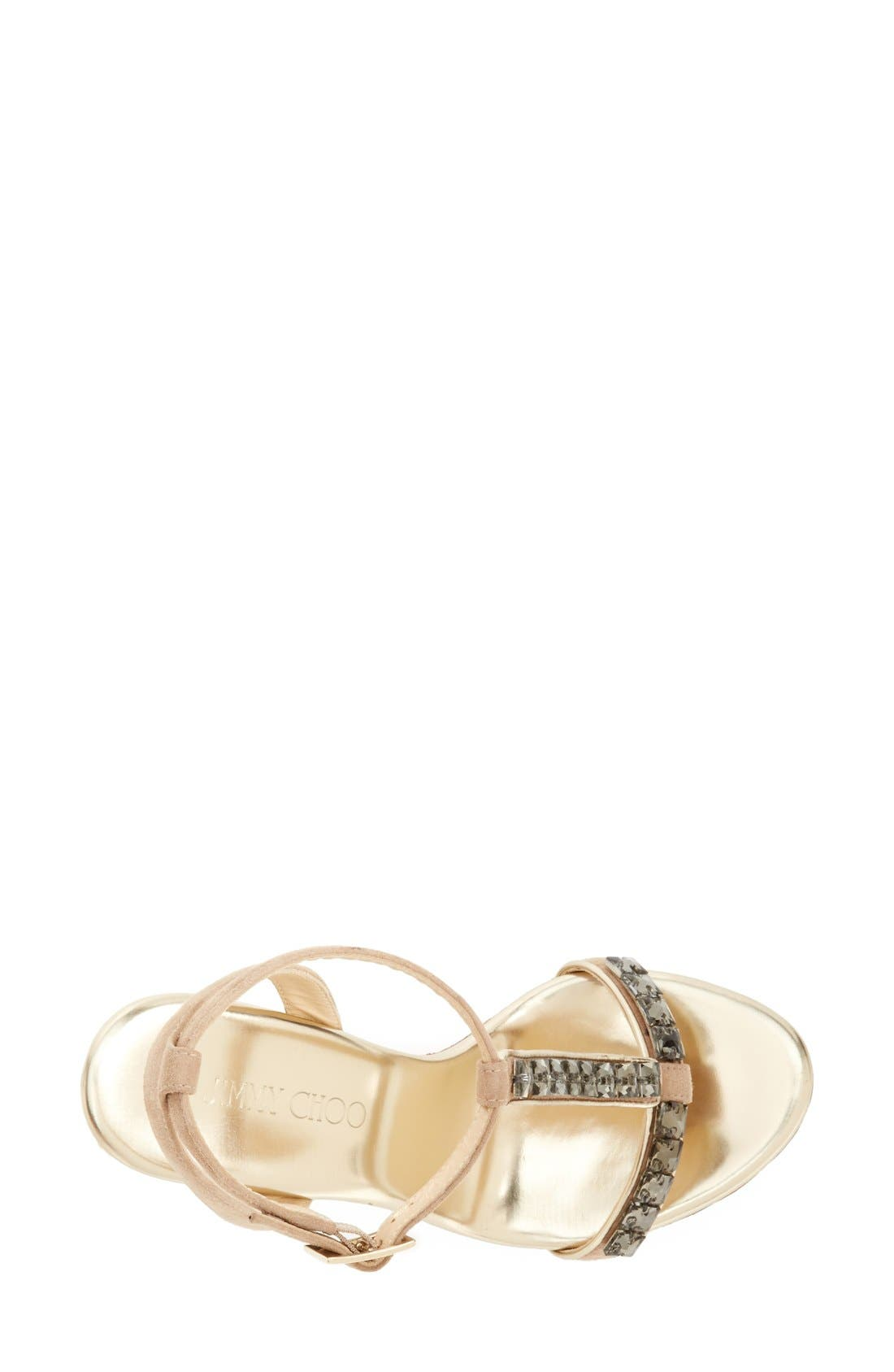 Alternate Image 3  - Jimmy Choo 'Naima' Jeweled T-Strap Wedge Sandal (Women)