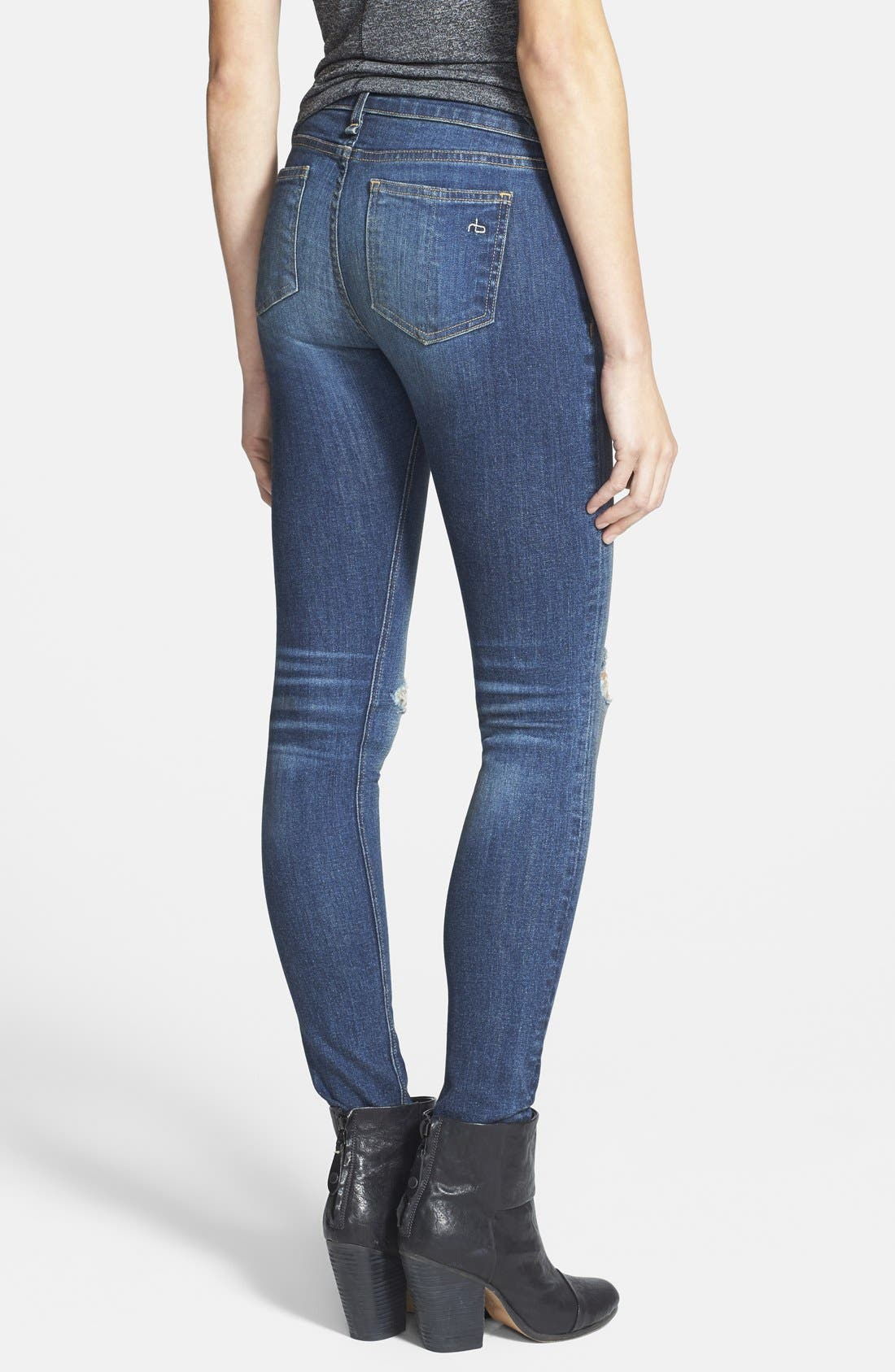 Alternate Image 2  - rag & bone/JEAN 'The Skinny' Stretch Jeans (Pacifico)
