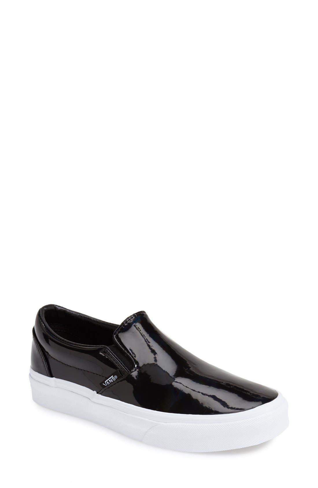 Alternate Image 1 Selected - Vans Patent Leather Slip-On Sneaker (Women)