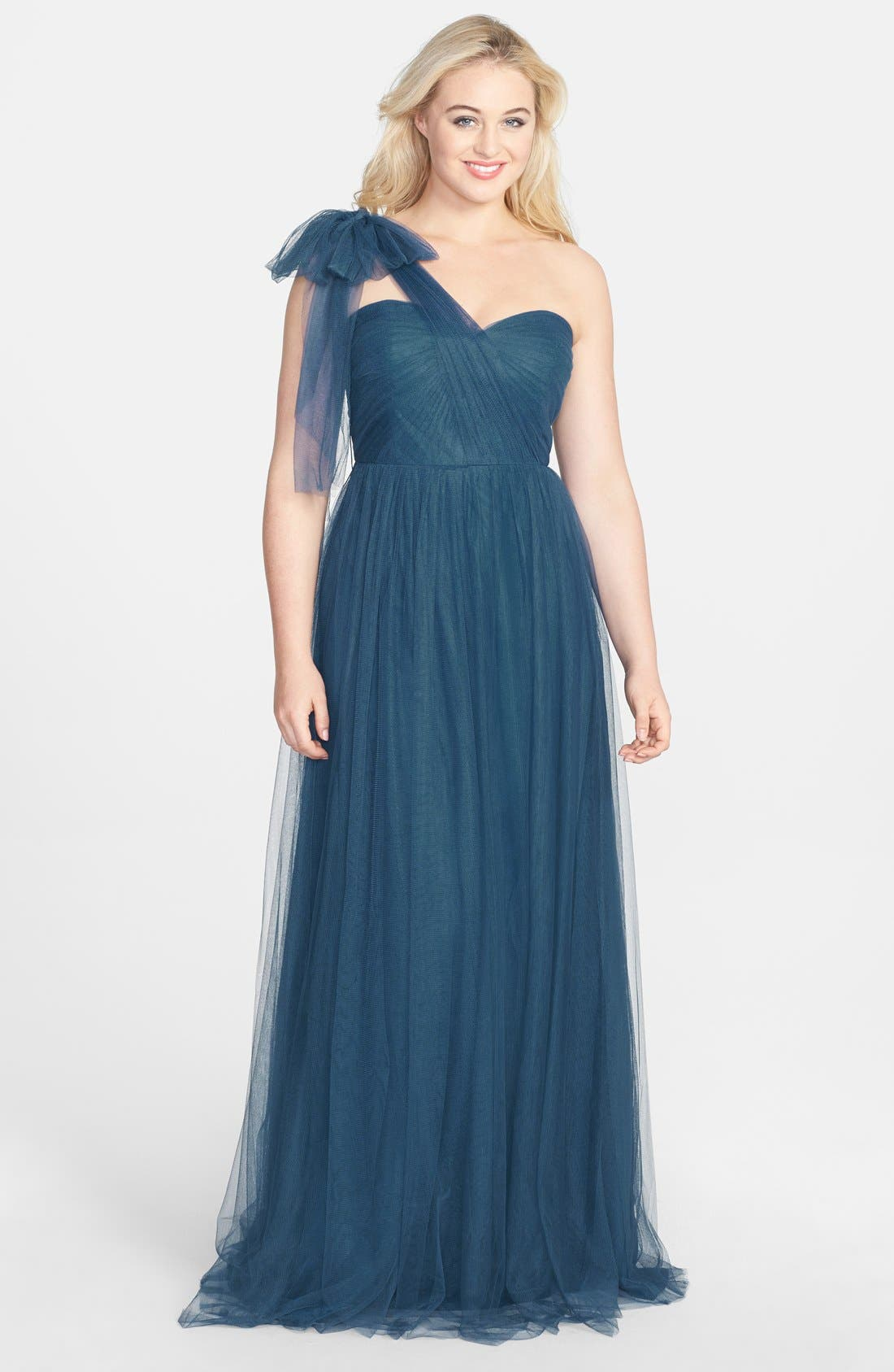 Alternate Image 6  - Jenny Yoo 'Annabelle' Convertible Tulle Column Dress