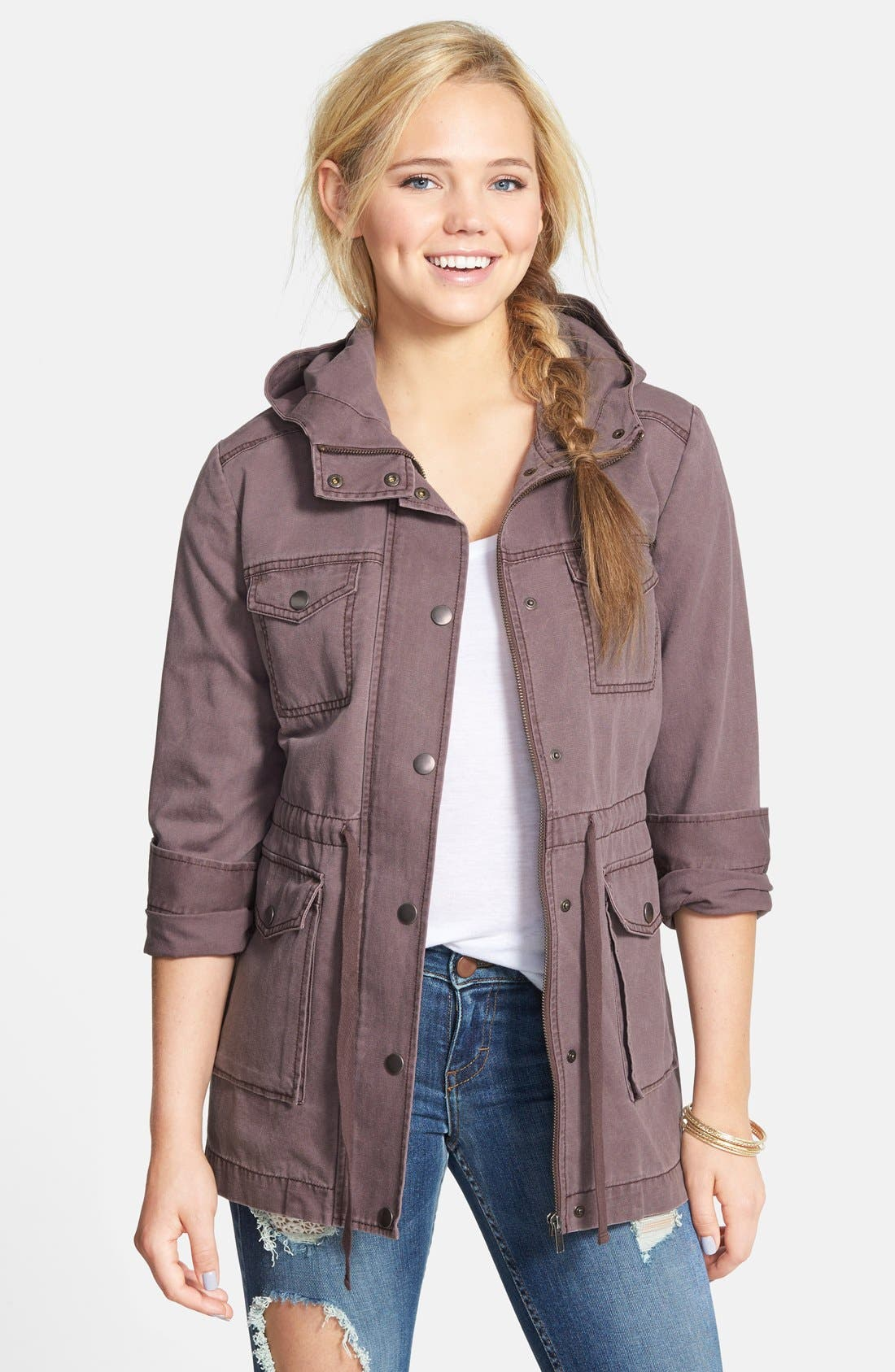 Alternate Image 1 Selected - BP. Hooded Field Jacket (Juniors)