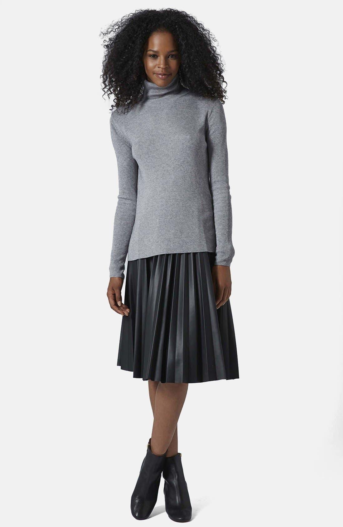 Alternate Image 4  - Topshop Ribbed Turtleneck Sweater
