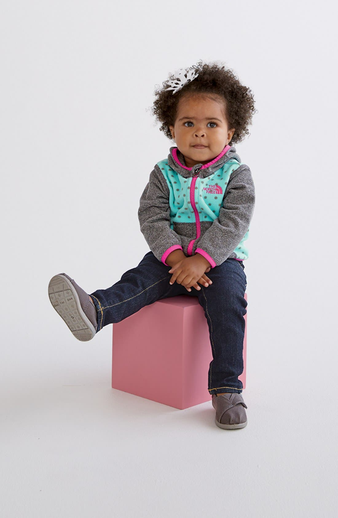 Alternate Image 2  - The North Face 'Glacier' Full Zip Fleece Hoodie (Baby Girls)
