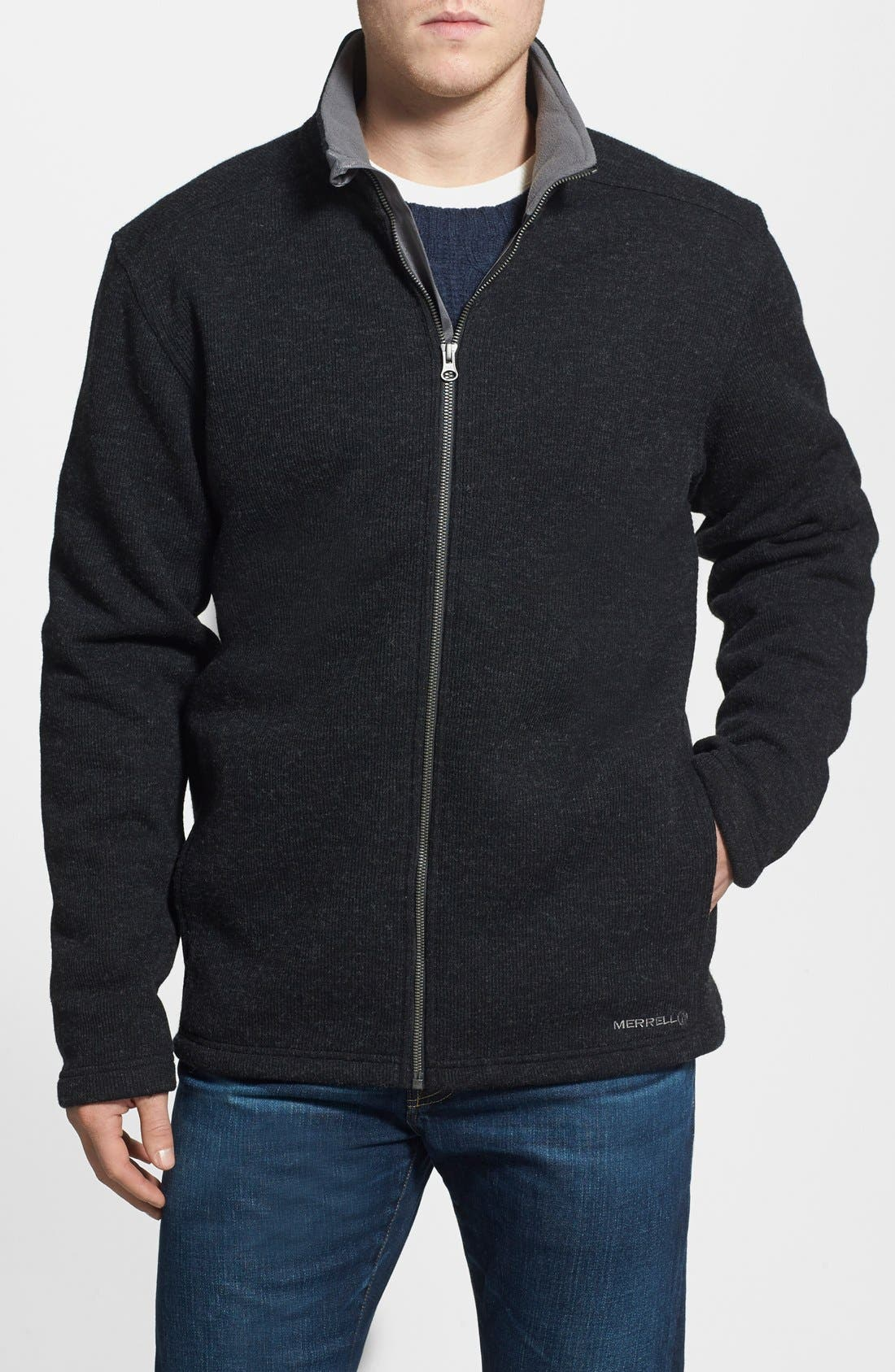 Main Image - Merrell 'Big Sky' Fleece Knit Jacket (Online Only)