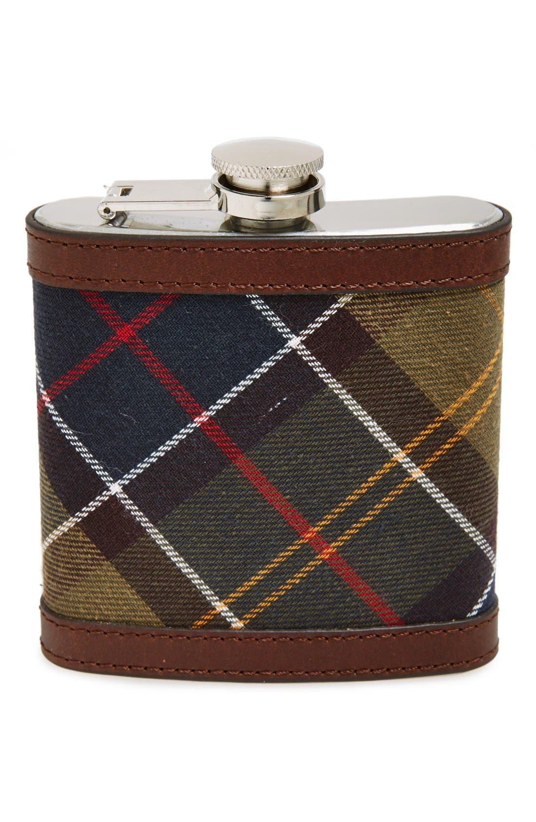 Alternate Image 1 Selected - Barbour Tartan Hip Flask