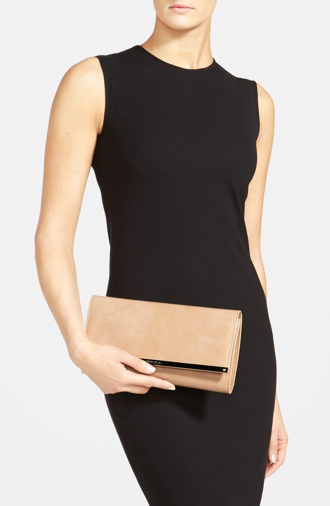 Alternate Image 2  - Jimmy Choo 'Large Maia' Patent Leather Clutch