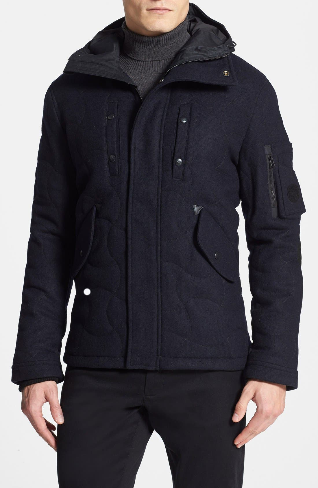Main Image - Spiewak 'Tarmak' Quilted Wool Blend Parka