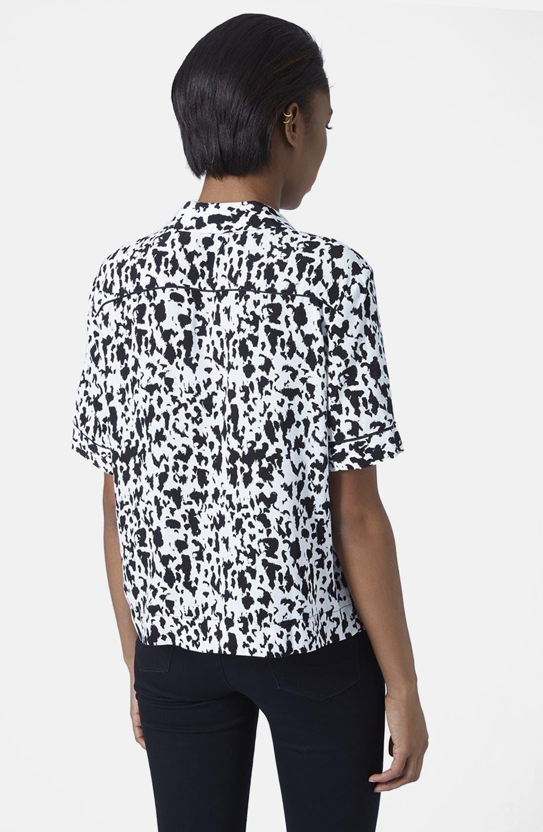 Alternate Image 2  - Topshop Monochrome Animal Print Shirt