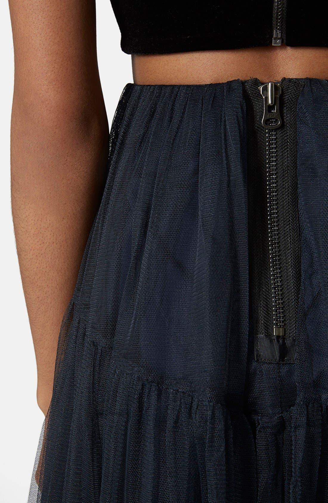 Alternate Image 4  - Topshop Layered Mesh Skirt