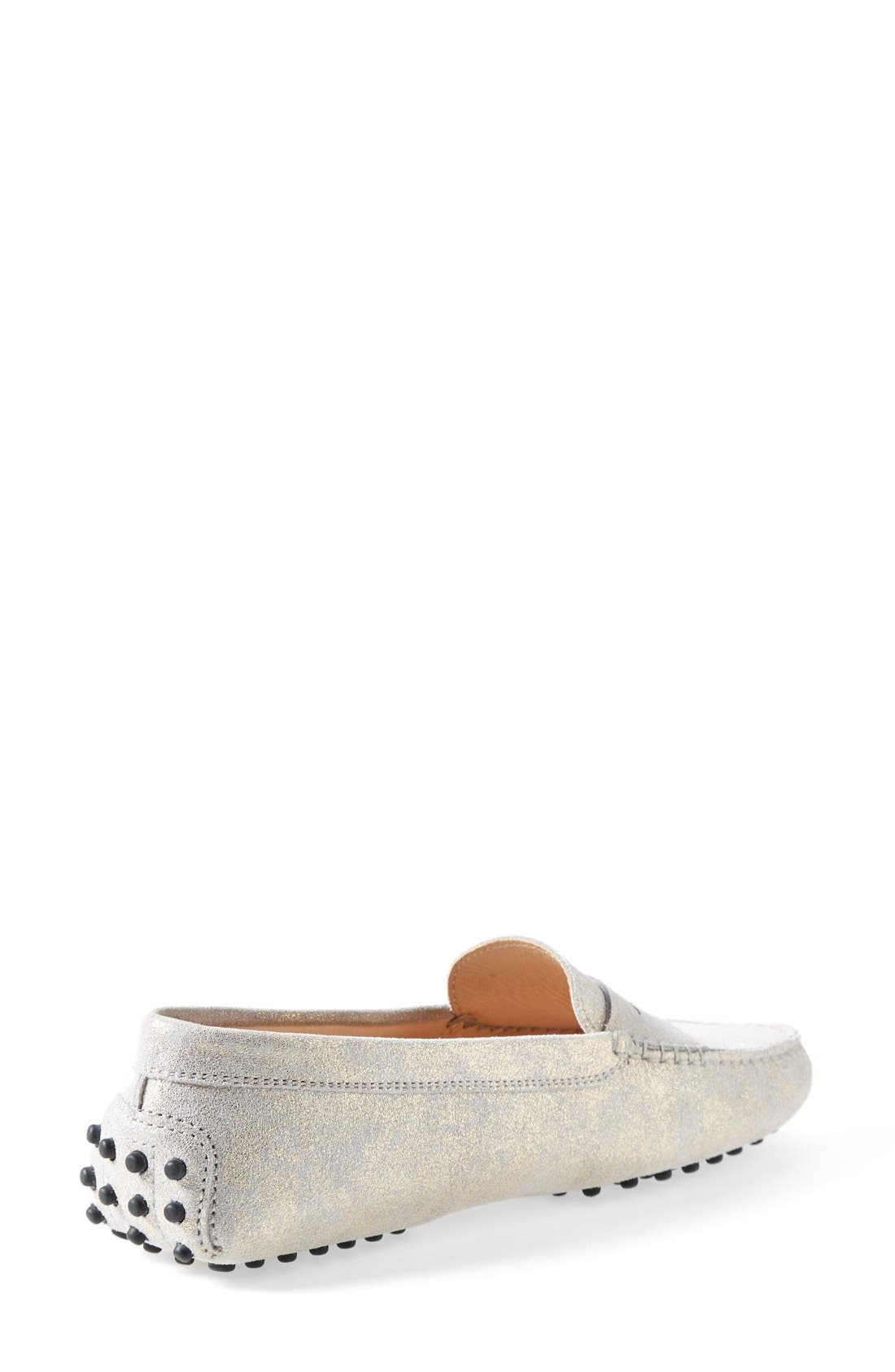 Alternate Image 2  - Tod's 'Gommini' Metallic Suede Penny Loafer (Women)