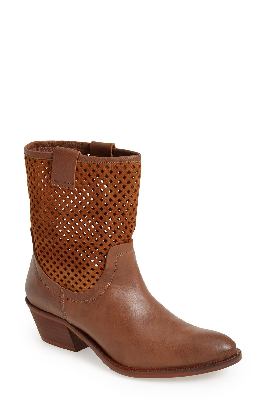 Main Image - SIXTYSEVEN 'Laurie' Perforated Leather Short Boot (Women)