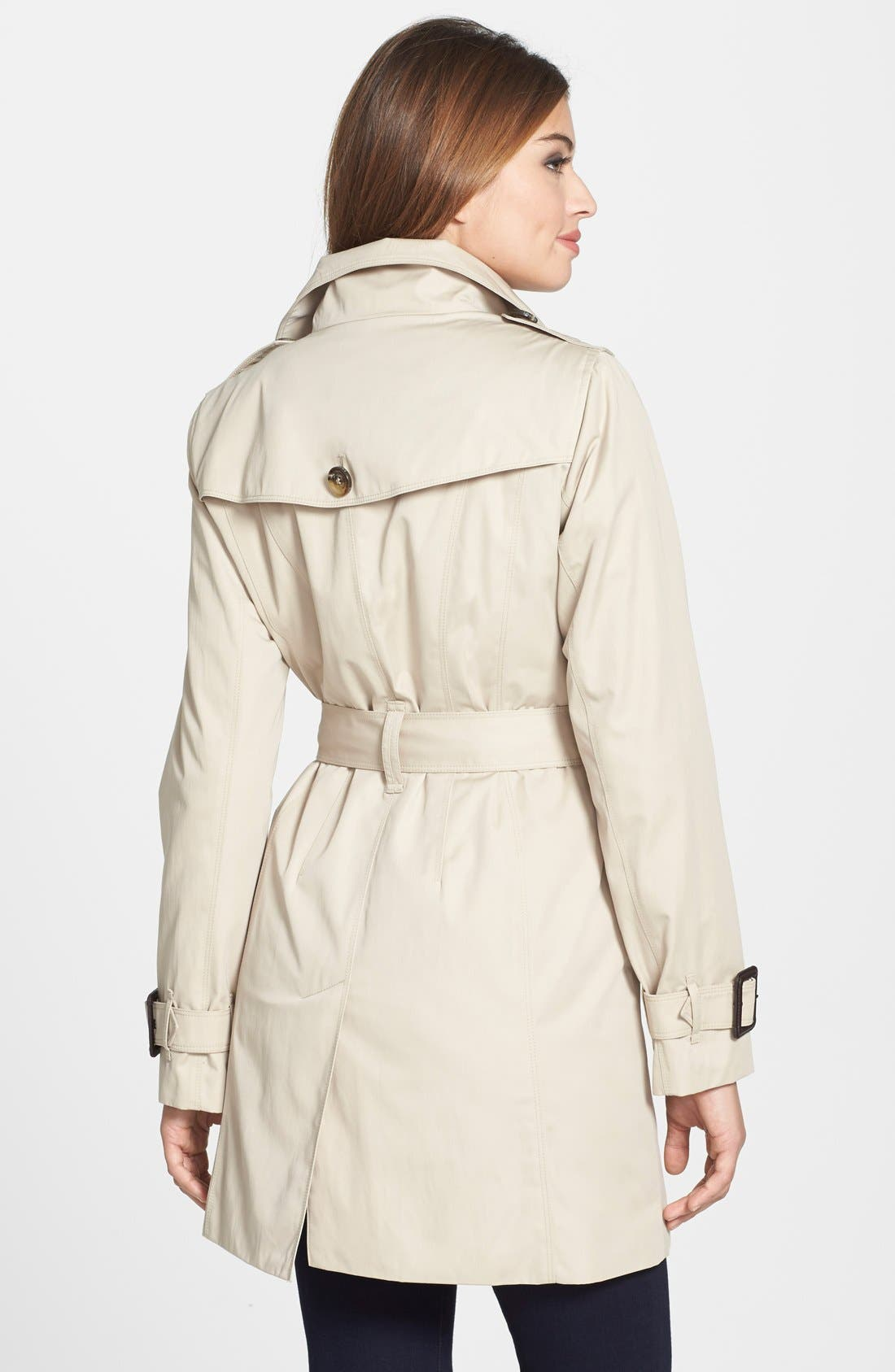 Alternate Image 2  - London Fog Double Breasted Trench Coat with Detachable Liner (Online Only)