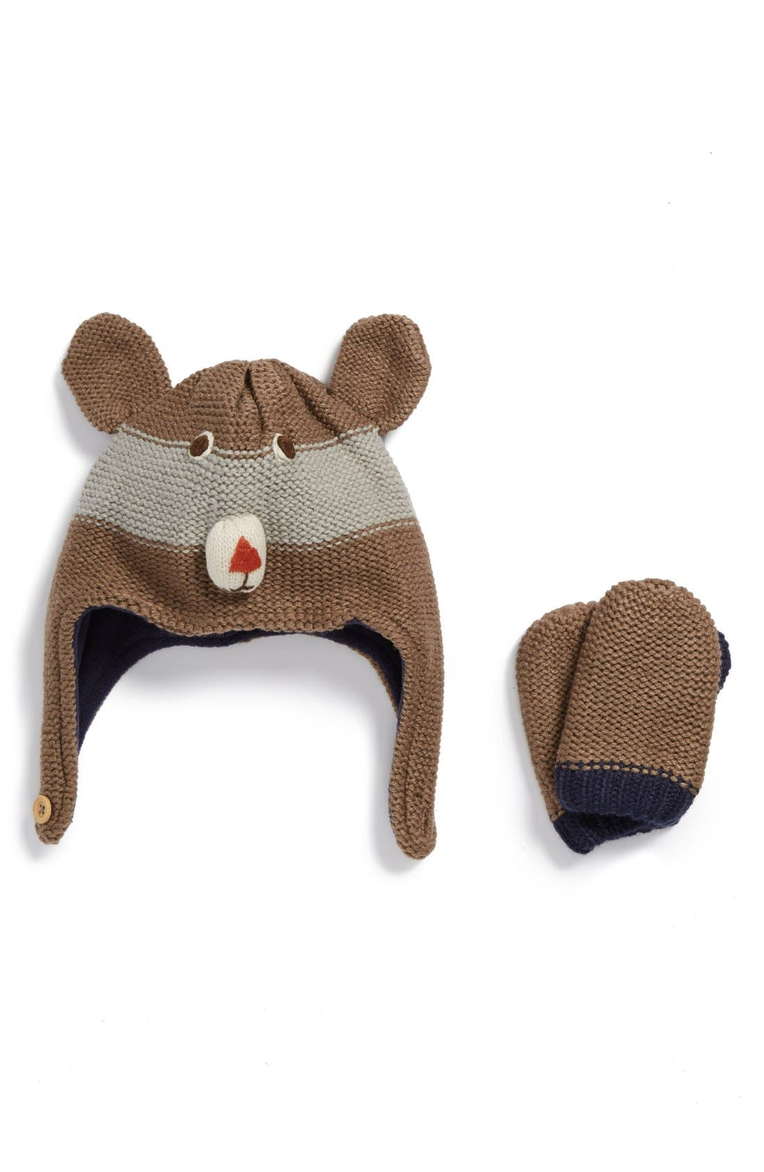Mini Boden Hat & Mittens (Baby & Toddler)
