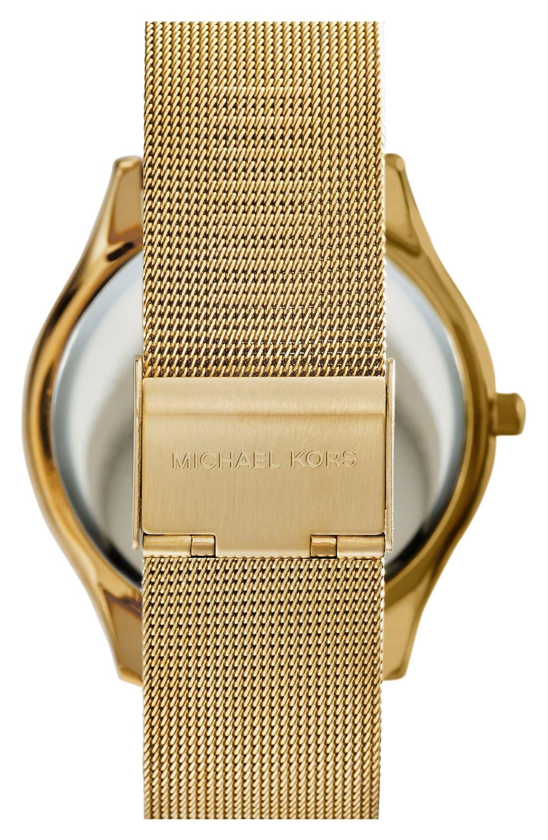 Alternate Image 3  - Michael Kors 'Slim Runway' Mesh Strap Watch, 42mm