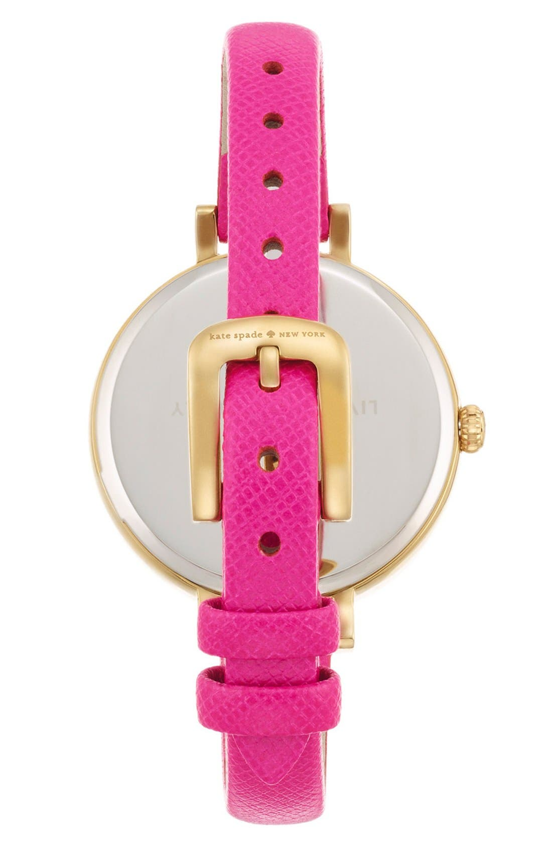 Alternate Image 2  - kate spade new york 'metro' heart dial leather strap watch, 34mm