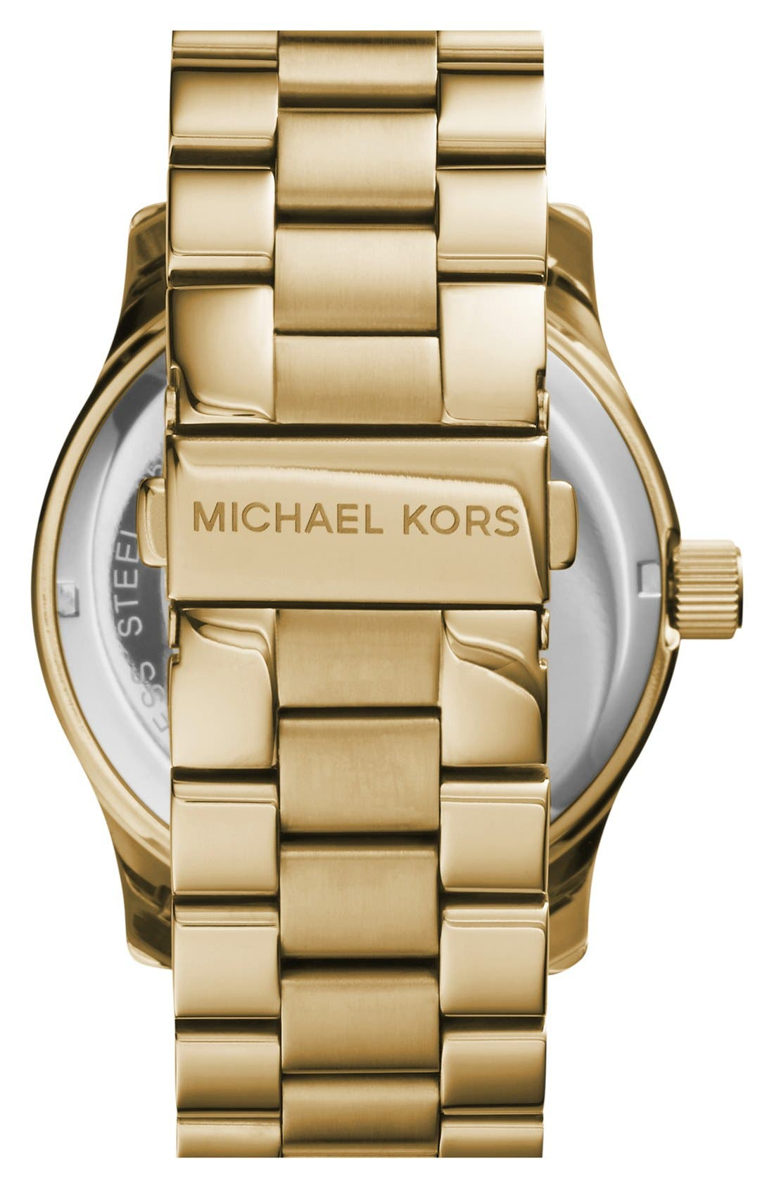Alternate Image 2  - Michael Kors 'Runway' Logo Dial Bracelet Watch, 45mm