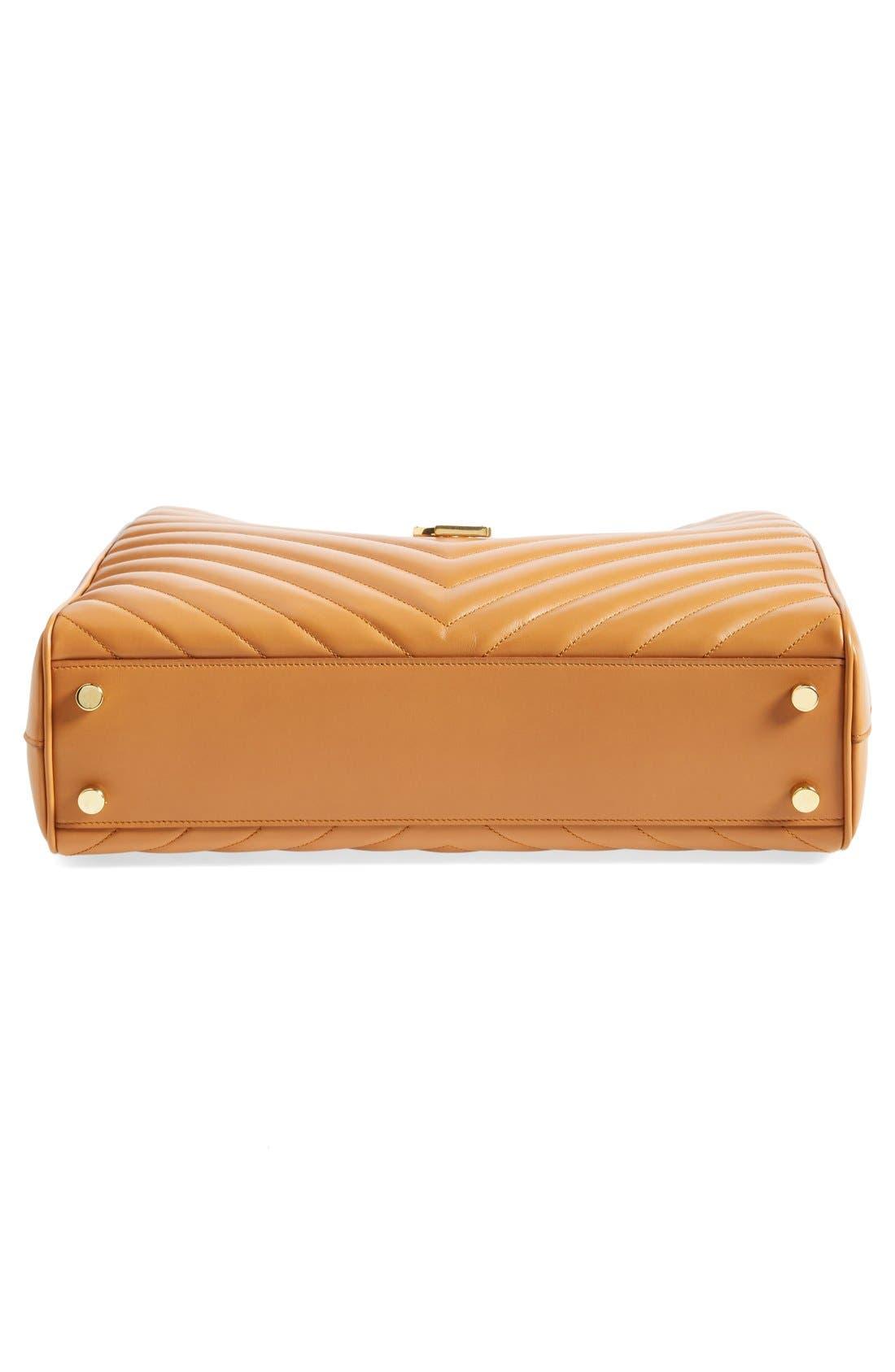 Alternate Image 5  - Saint Laurent 'Cassandre' Leather Shopper