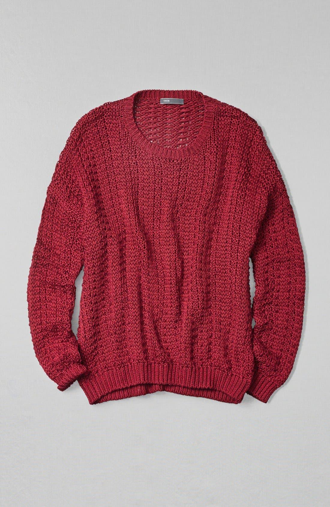 Alternate Image 4  - Vince Mercerized Textured Sweater