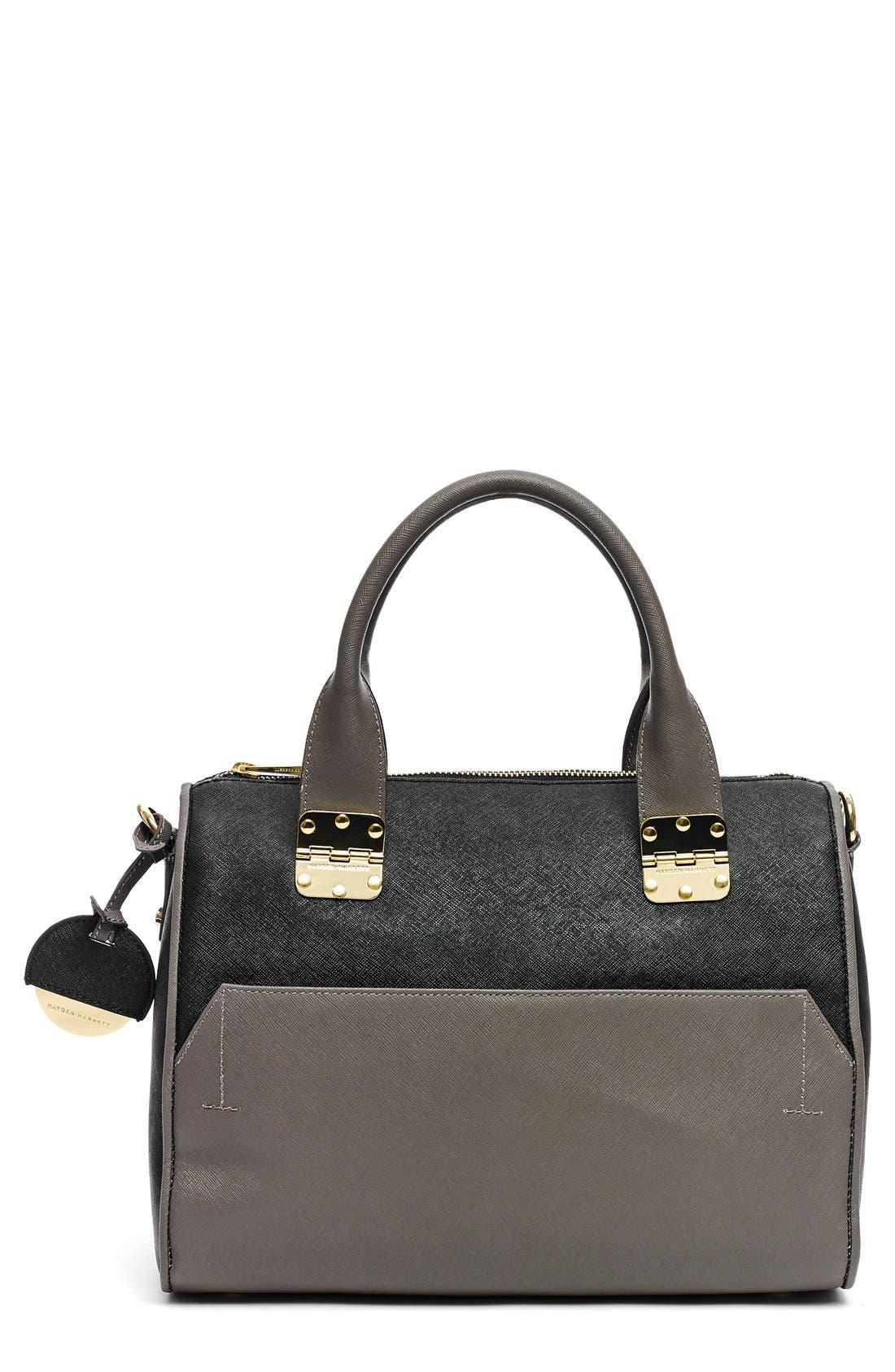 Alternate Image 1 Selected - Hayden-Harnett 'Sandrine' Saffiano Leather Satchel