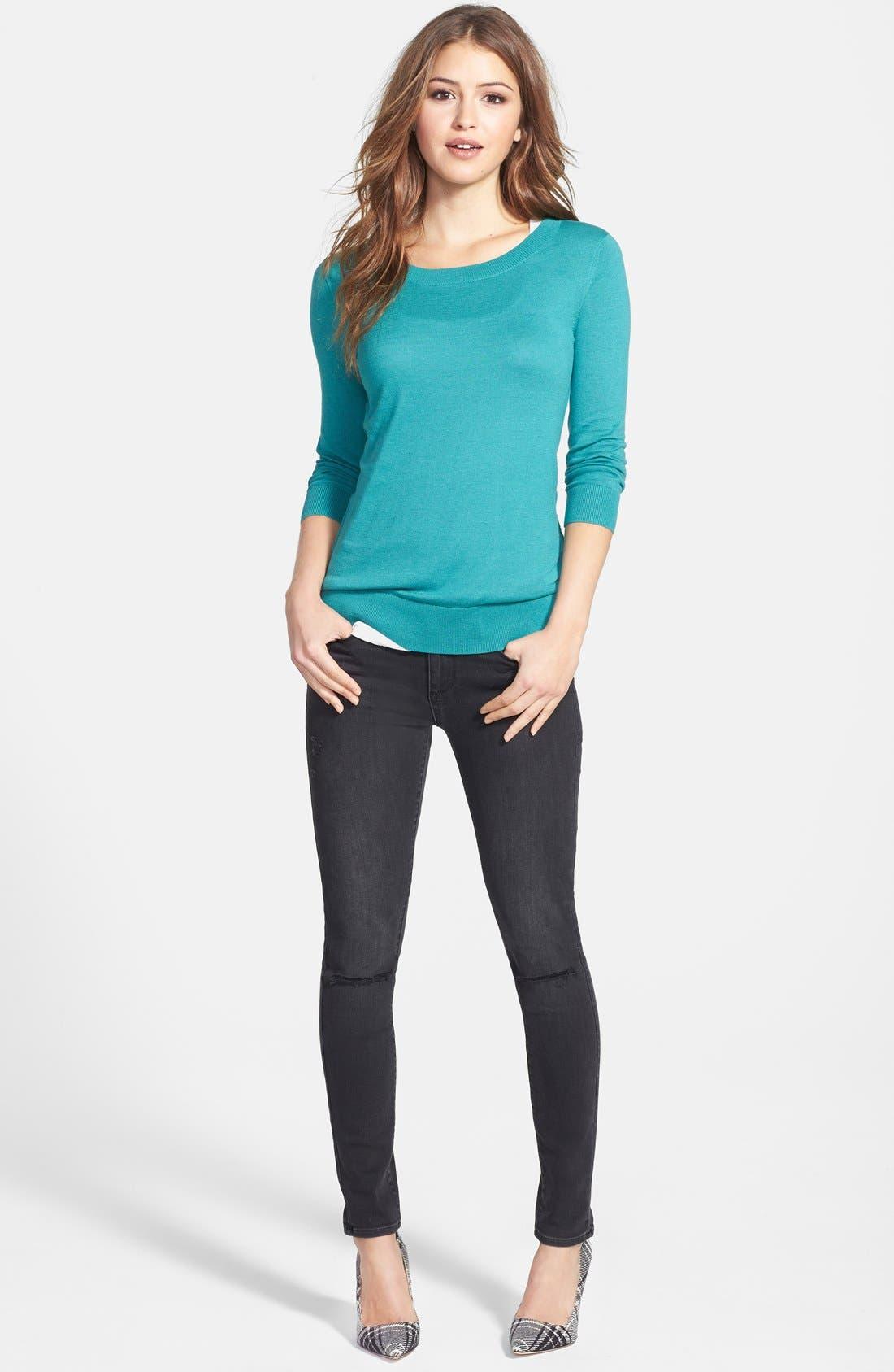 Alternate Image 5  - Paige Denim 'Verdugo' Ultra Skinny Jeans (Rayed Destructed)