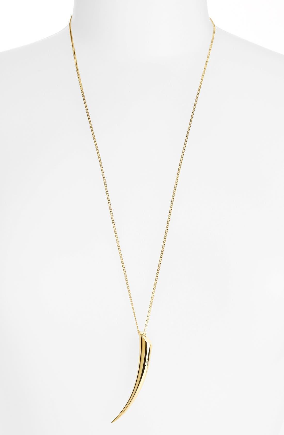 Alternate Image 1 Selected - Michael Kors Horn Pendant Necklace