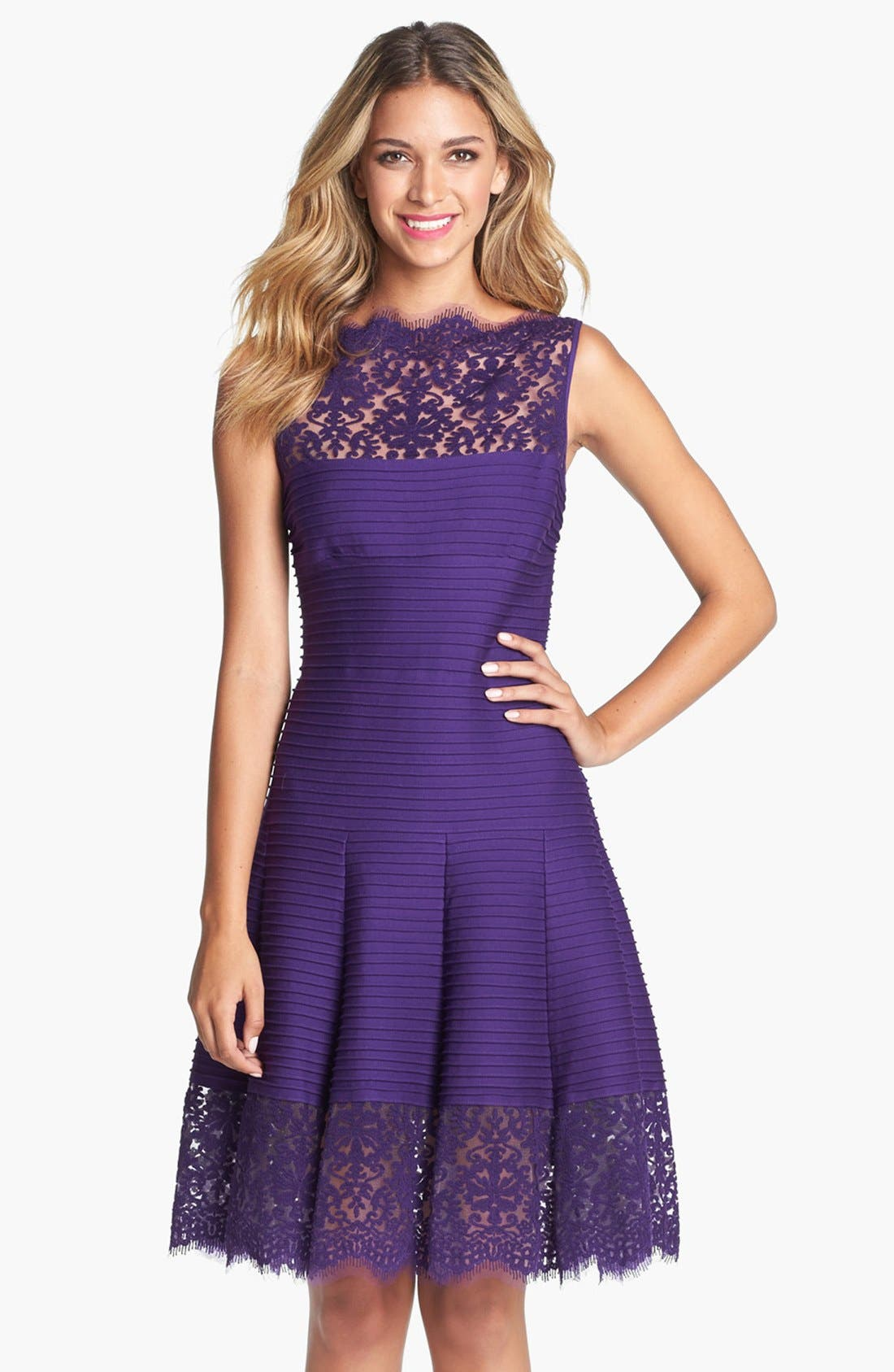 Alternate Image 1 Selected - Tadashi Shoji Matte A-Line Jersey Dress
