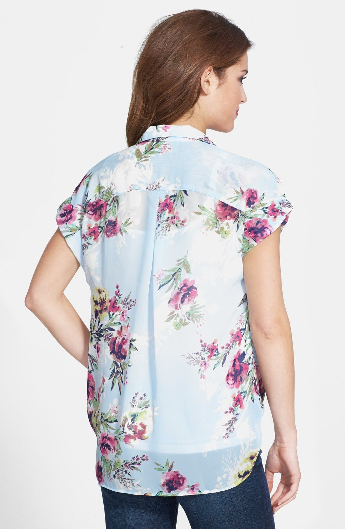 Alternate Image 2  - KUT from the Kloth Floral Print Faux Wrap Top