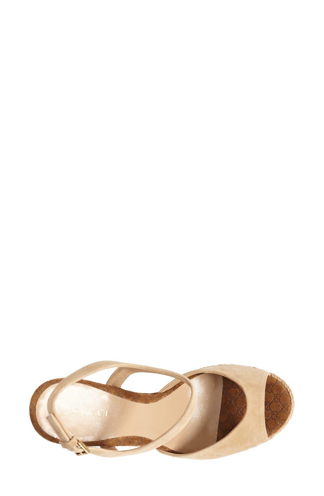 Alternate Image 3  - Gucci 'Hollie' Wedge Sandal (Women)