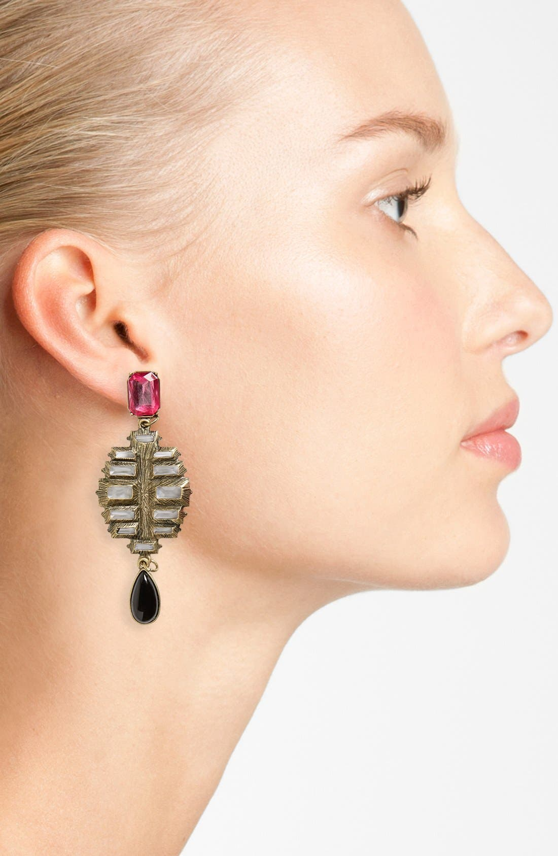 Alternate Image 2  - Berry Baguette Drop Earrings