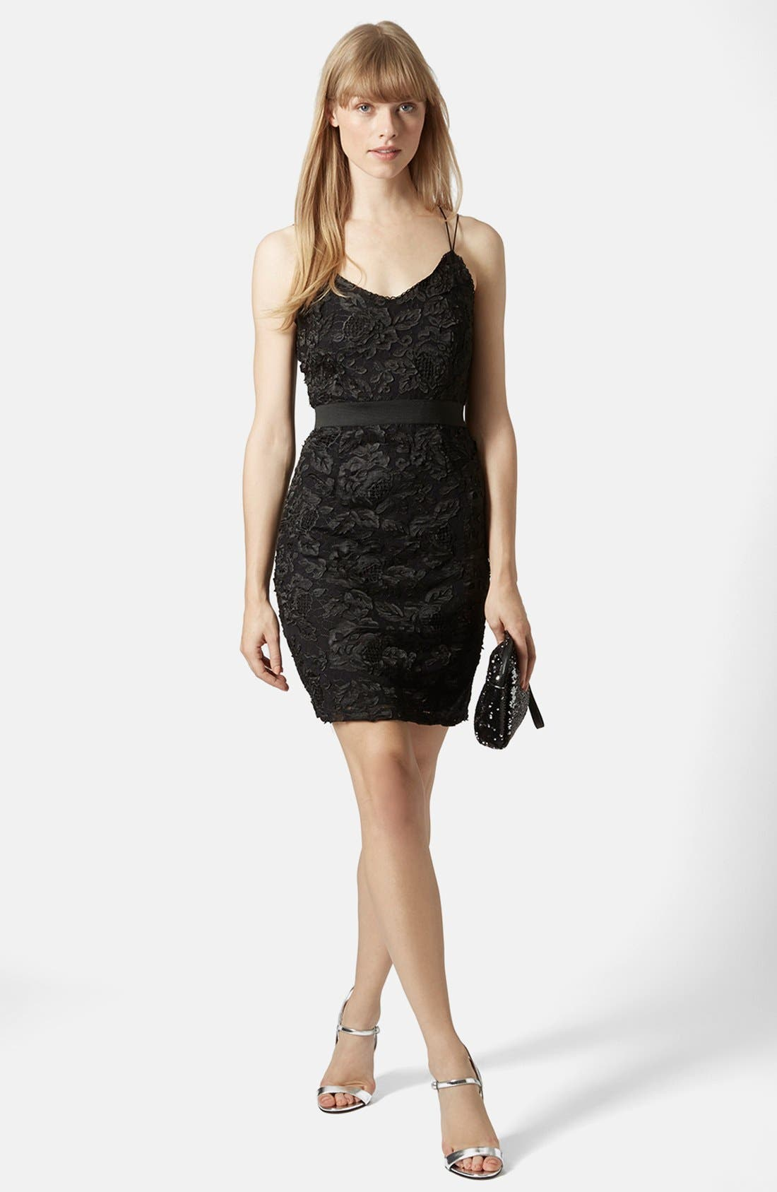 Main Image - Topshop Strappy Lace Dress
