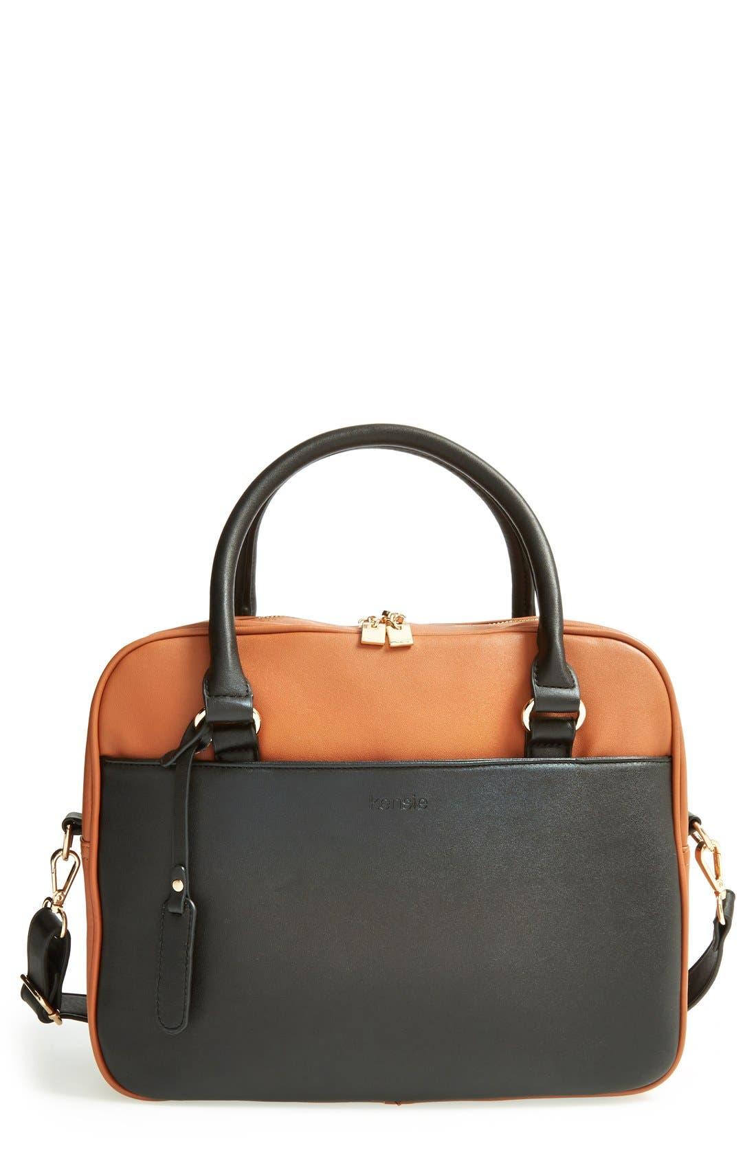 Alternate Image 1 Selected - kensie 'Block Party' Color Block Handbag