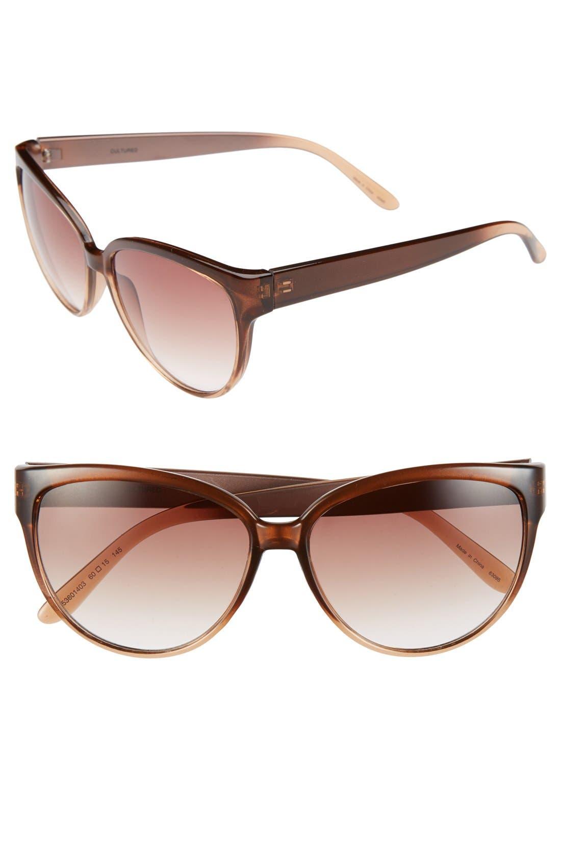 Main Image - Outlook Eyewear 60mm Cat Eye Sunglasses