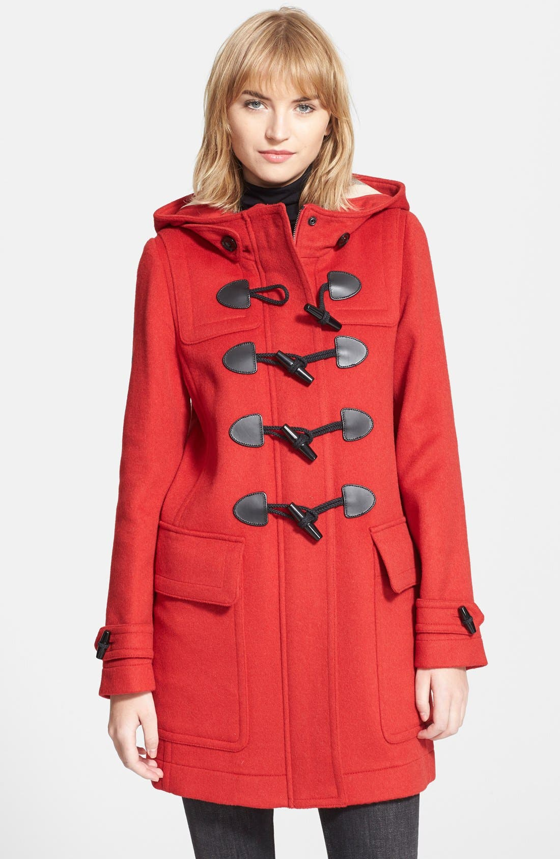 Alternate Image 1 Selected - Burberry Brit Finsdale Wool Duffle Coat