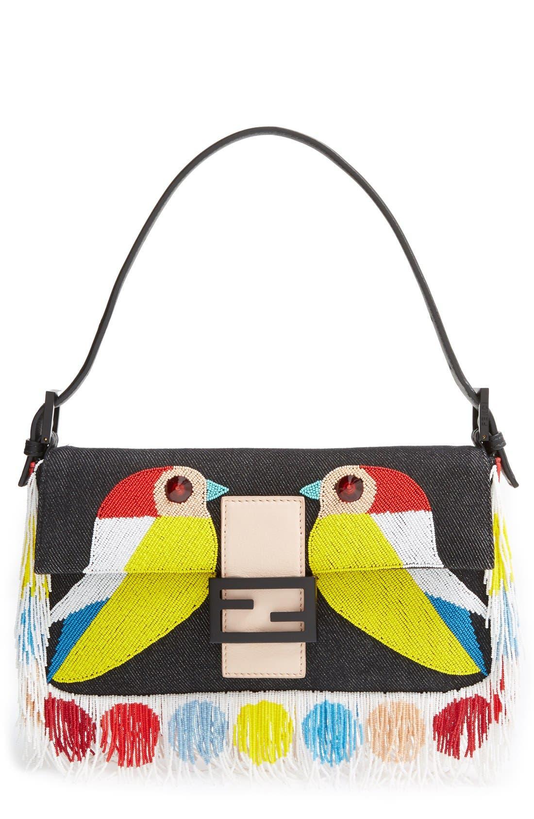 Main Image - Fendi 'Bird' Beaded Baguette