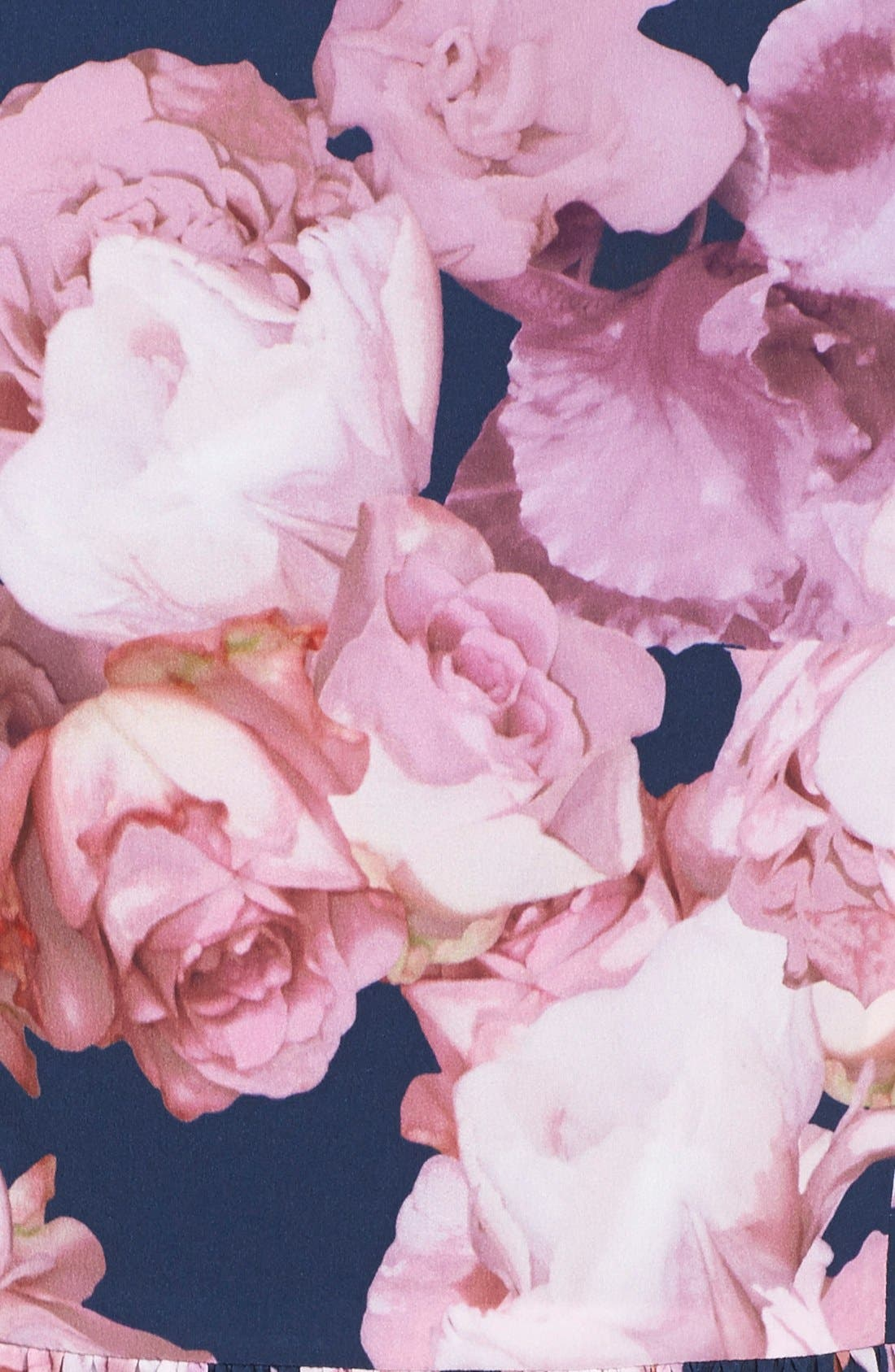 Alternate Image 4  - Adrianna Papell Floral Print Chiffon Fit & Flare Dress (Regular & Petite)