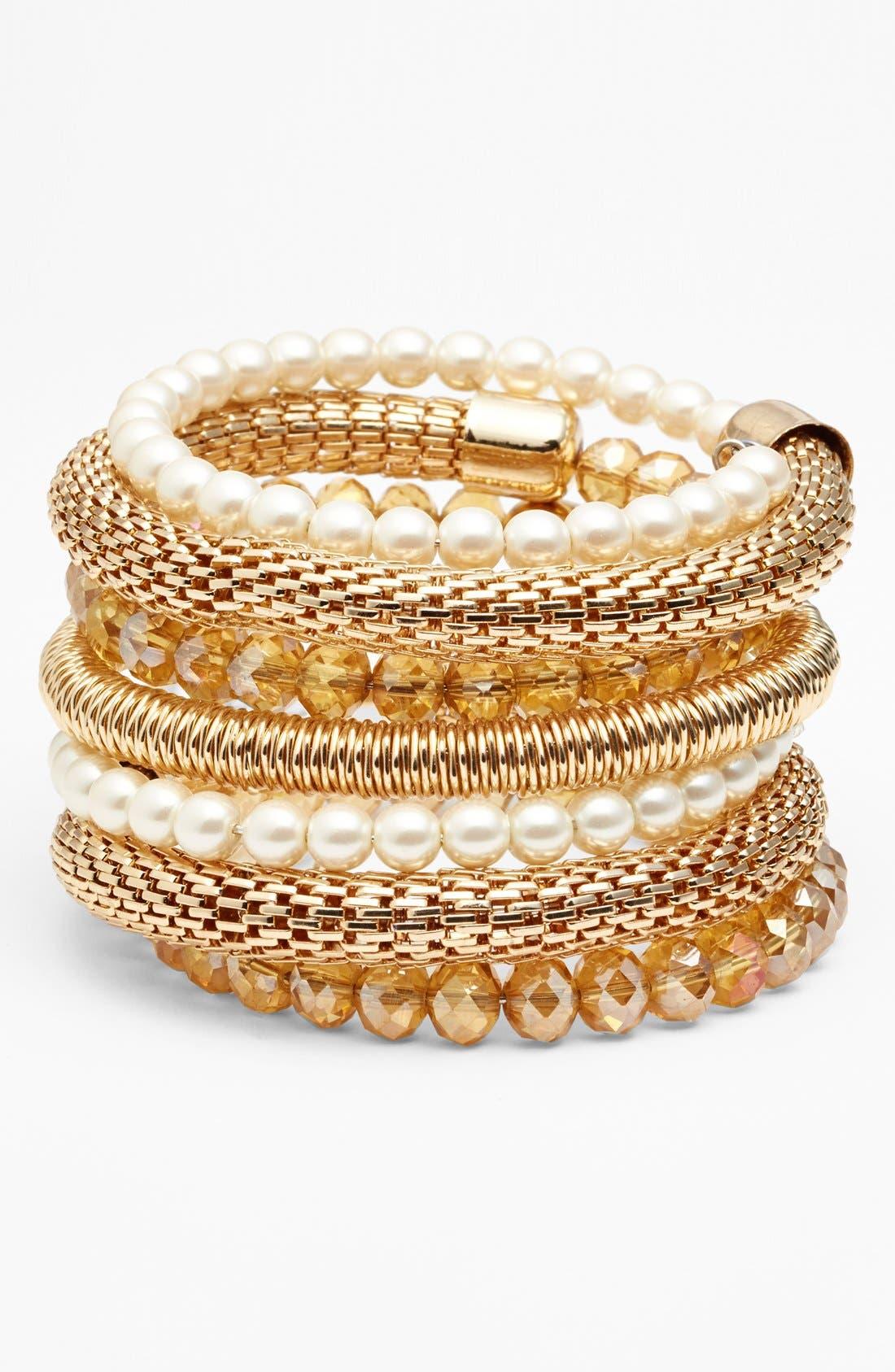 Alternate Image 1 Selected - Spring Street Coil Bracelet
