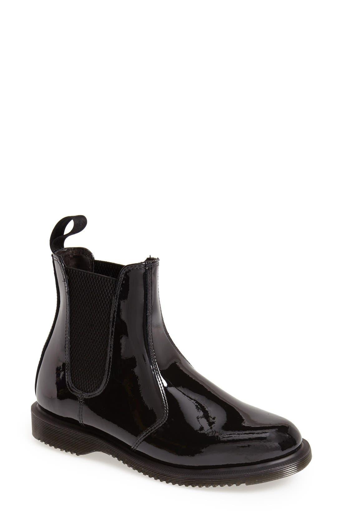 Main Image - Dr. Martens 'Faun' Patent Chelsea Boot (Women)