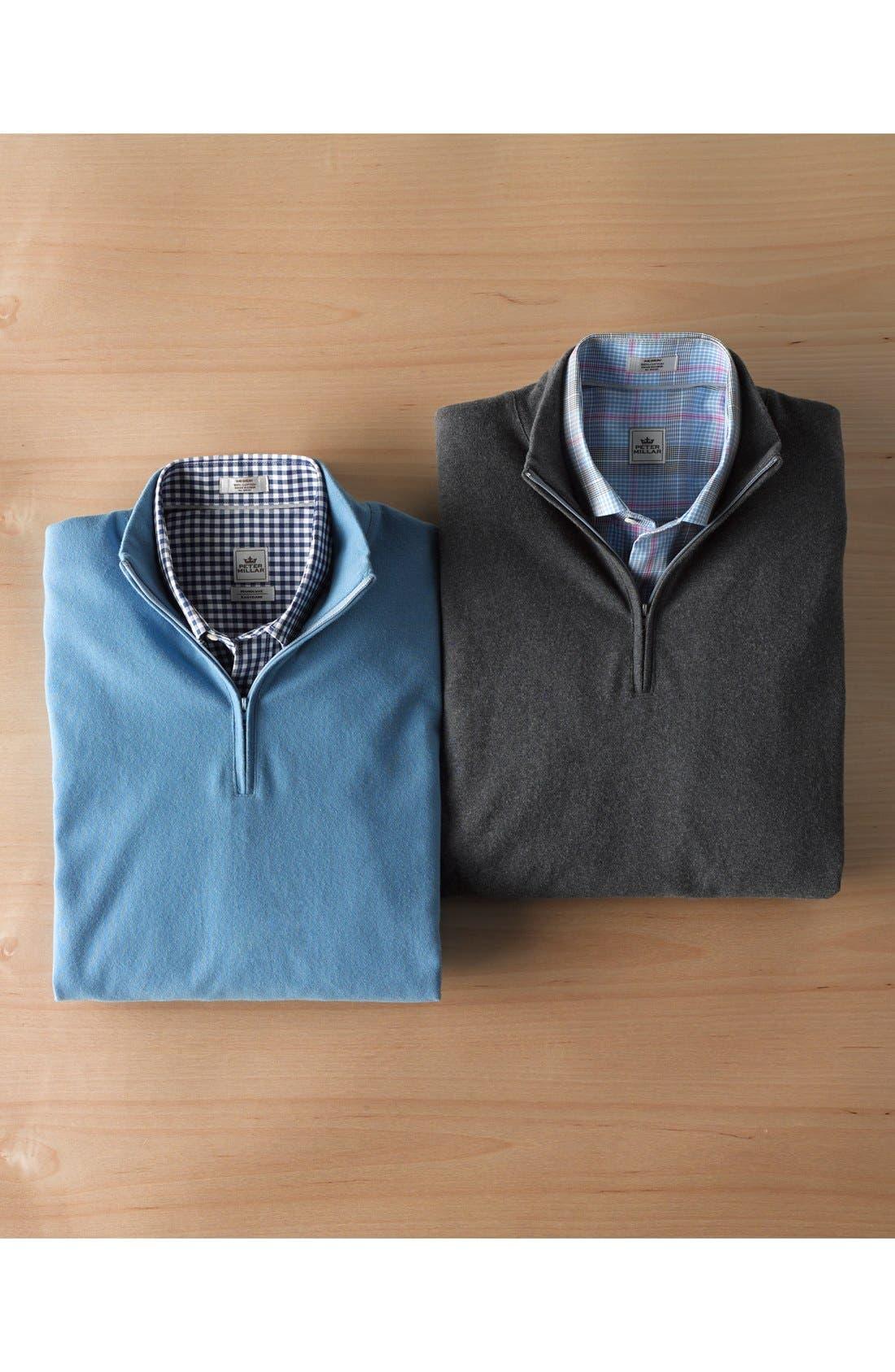 Alternate Image 4  - Nordstrom Quarter Zip Cotton Pullover